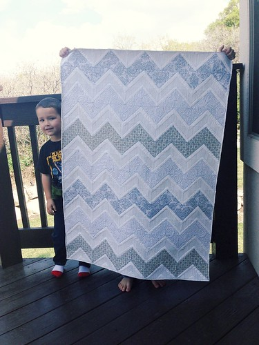 Gray baby quilt | by thirteen quilts