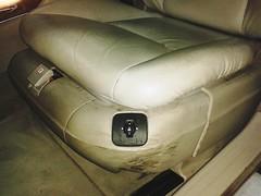 Mercedes Clase S. Limpieza Integral. Asiento Piloto.   Antes