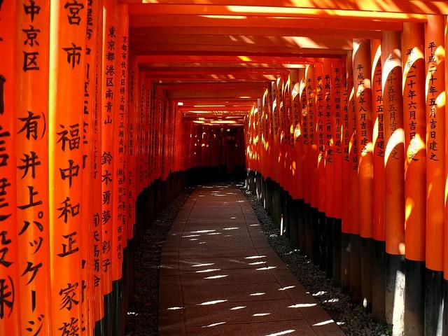 Puertas de un santuario sintoísta (Kyoto)
