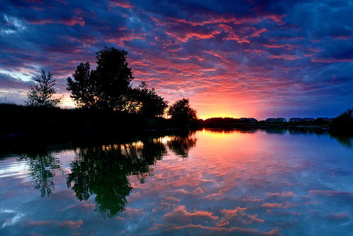 blue sunset color wow reflections magenta surreal kansas finale wichita chisholmcreekpark ksccna9441