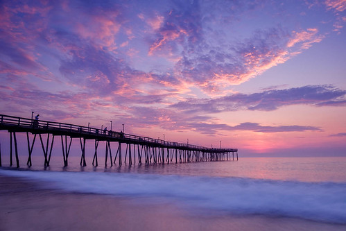 sunrise infrastructurebuilding pier killdevilhills northcarolina unitedstates us cloud sky outdoor long exposure waves