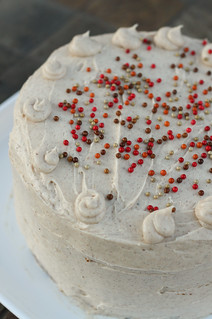 Pumpkin Cheesecake Cake with Spiced Cream Cheese Frosting | by niftyfoodie