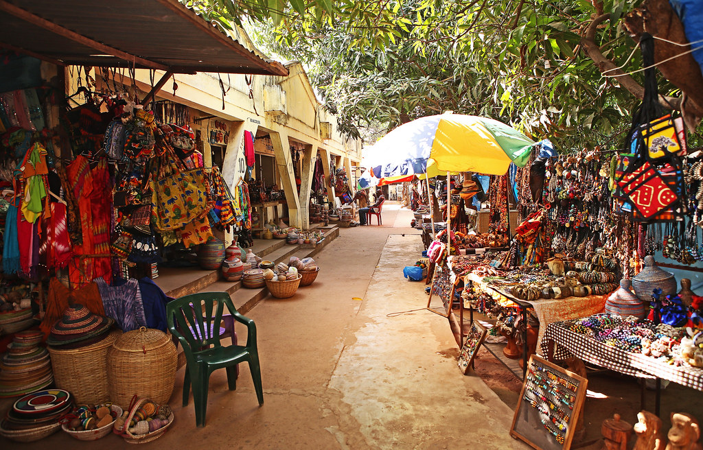 Image result for craft market in Gambia