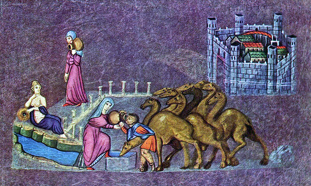 Rebecca watering the camels of Eliezer