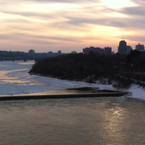 About 3:30 pm December 6 from the railway bridge. | by patriciaellencone