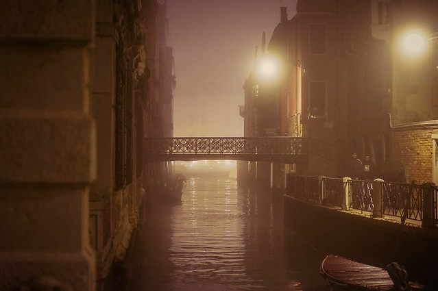 Canals of Venice, Italy (At Night)