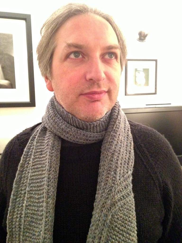 Jeremy clothed entirely in handknits