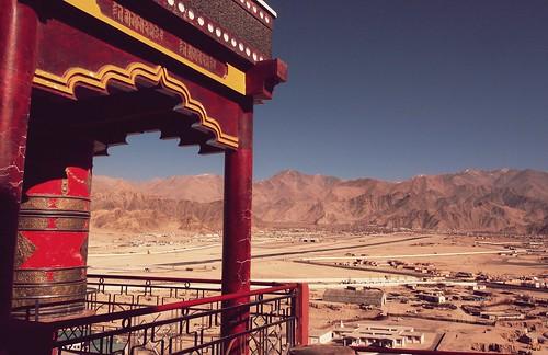 india mountains airport buddhism olympus monastery prayerwheel leh himalayas ladakh ixl karakorams spitukmonastery lehairport gompah jammyandkashmir