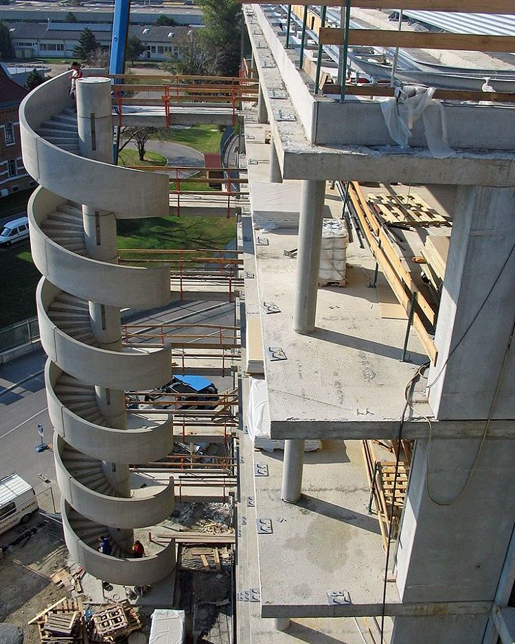 Awesome Concrete spiral staircase Construction - Building