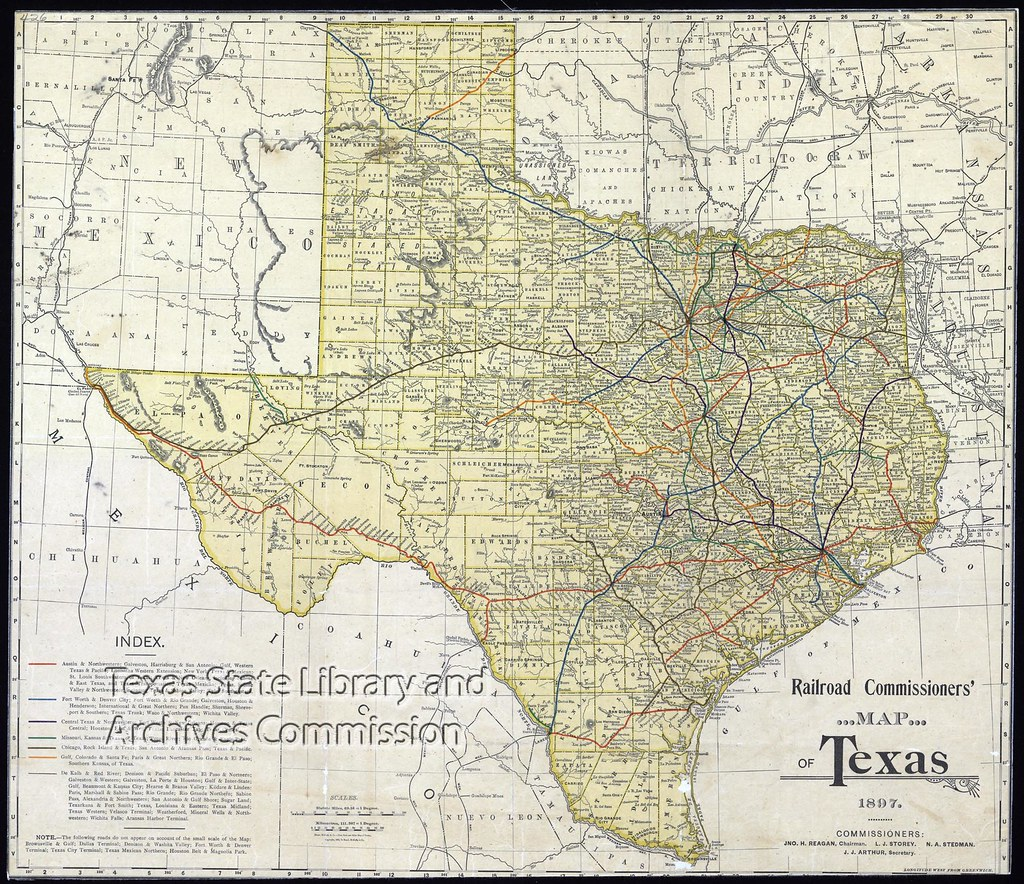 Railroad Map Of Texas.Railroad Commissioner S Map Of Texas Texas State Archives Flickr