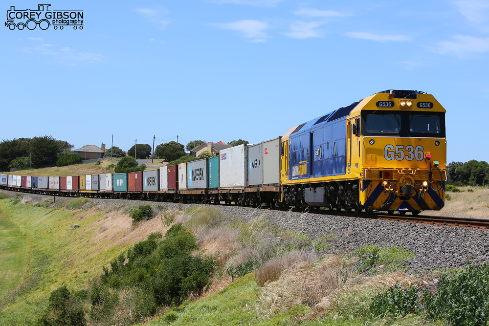 G536 with an afternoon 9203 down Warrnambool freight by Corey Gibson