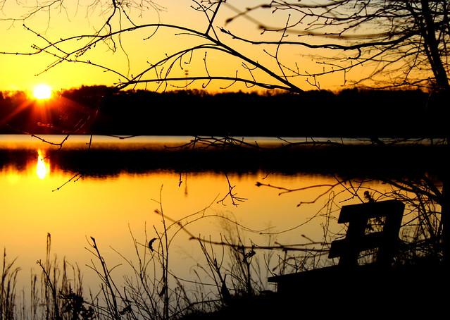 Watching a beautiful sunrise