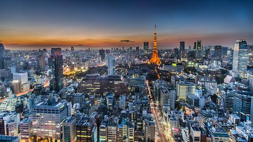 sunset urban japan skyline night canon tokyo glow cityscape 夕陽 日本 tokyotower 東京 metropolitan 1635mm 展望台 世界貿易センター 40f 霞光 5dmarkiii worldtradecenterobservatory