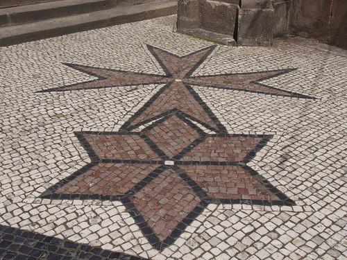 PRAHA/ PRAGUE Sidewalk Stone Mosaic / chodnik kamenne dlazdeni - P5210552