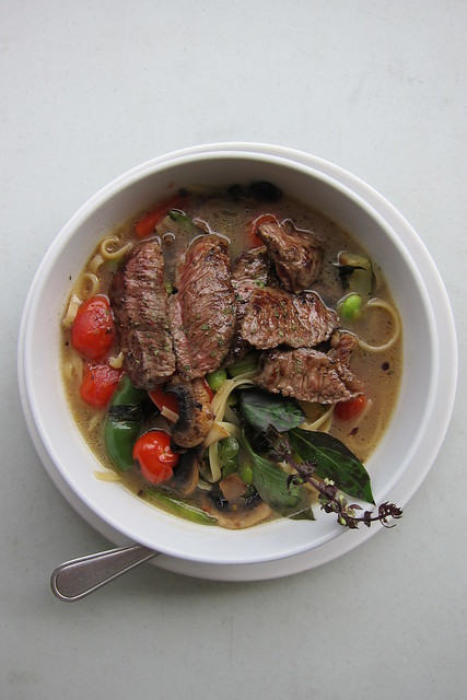 Charred Beef Strips & Noodle