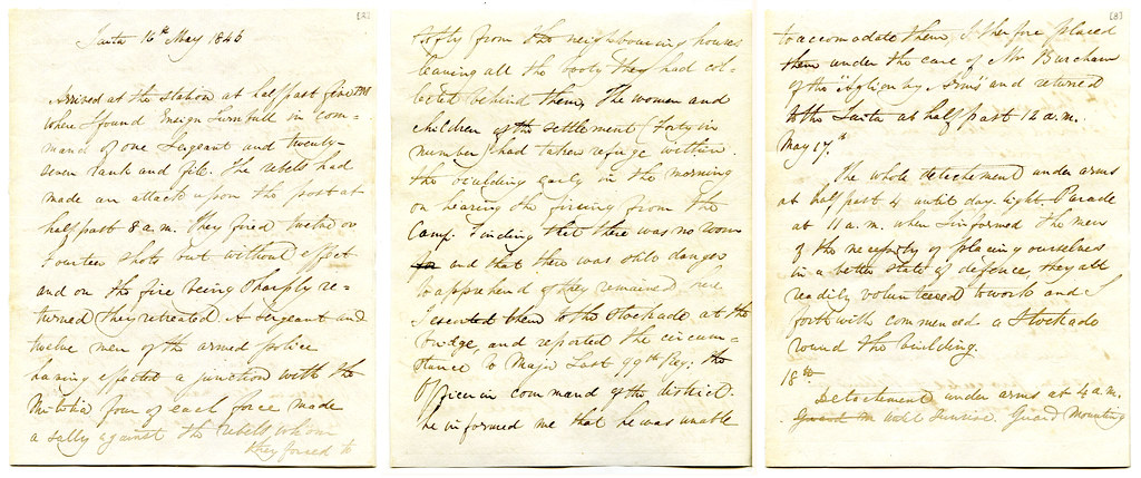 Journal of the duties performed by the Hutt Militia, May 1… | Flickr