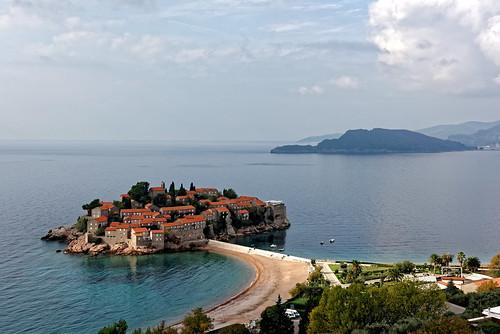 montenegro svetistefan europe eu nikon d810 sea seaview hotel tour island resort budva sky clouds