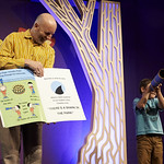 Nick Sharratt | Lots of silliness unfolding at Nick Sharratt's Book Festival event © Helen Jones