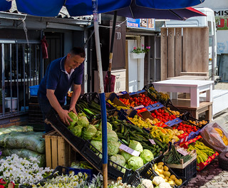 Shopkeeper  @ the Bazaar - Pristina, Kosovo | by Paul Diming