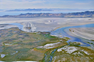 Farmington Bay, Antelope Island and the Great Salt Lake | by pedrik