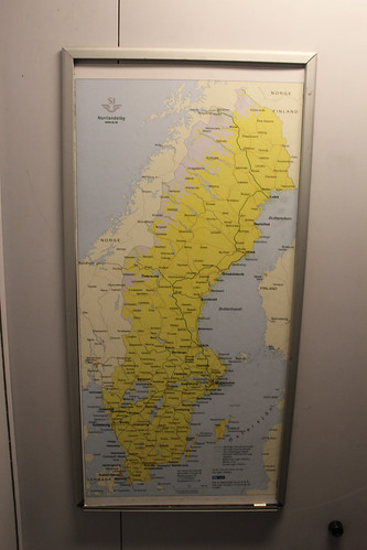 Railway map in the train to Luleå from Stockholm | by Timon91