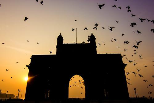 silhouette shoot earlymorning mumbai gatewayofindia picofday prphotography tokina11 canon550d pankajrokade