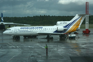 UR-42383. Yak-42. Donbassaero. DME.