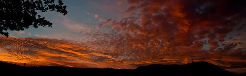 sunset sky clouds nye australia tasmania hobart mtwellington setting nye2014