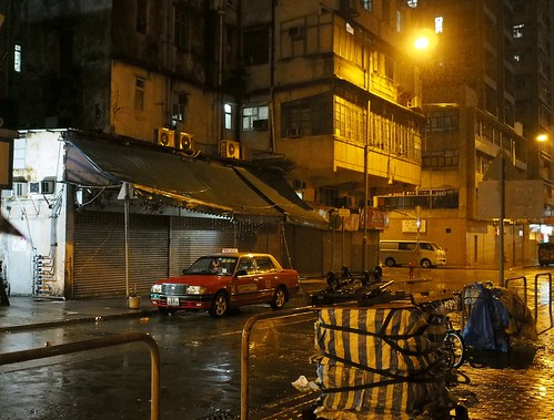 Taxi in the grittier part of town - Hong Kong | by philcalvert