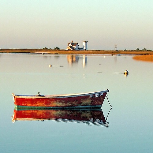 lighthouse sunrise square boat capecod chatham squareformat rowboat skiff dory dorey stageharbor iphoneography