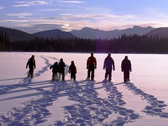 Wm A Switzer PP - Sunset Snowshoeing