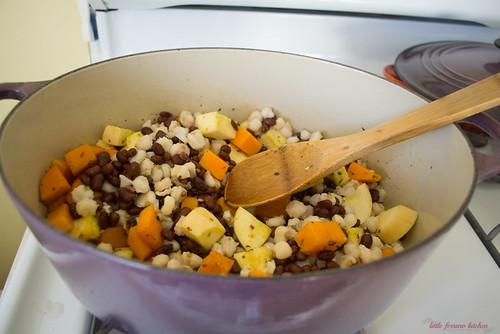 Vegetarian Red Pozole via LittleFerraroKitchen.com | by FerraroKitchen1