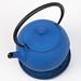 Blue Kyoto cast iron teapot
