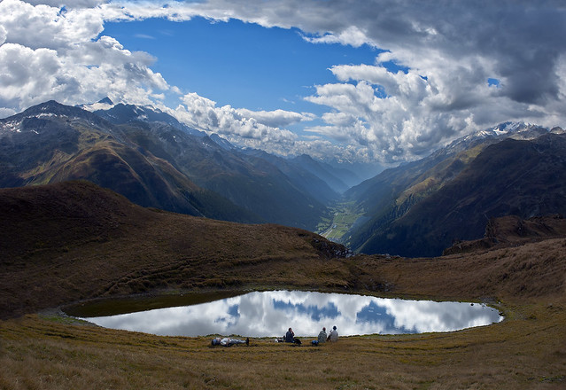 End of summer time in the Swiss Alps. Furka pass ,a  view to the Grate Wallis . No. 2266.