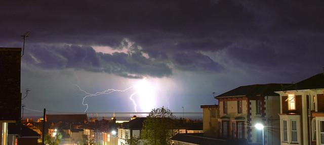 Lightning Over Sandown Bay