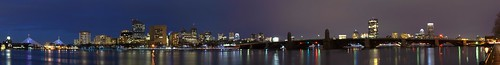 longexposure bridge panorama reflection boston night river lights charlesriver tripod explore longfellowbridge zakimbridge hugin
