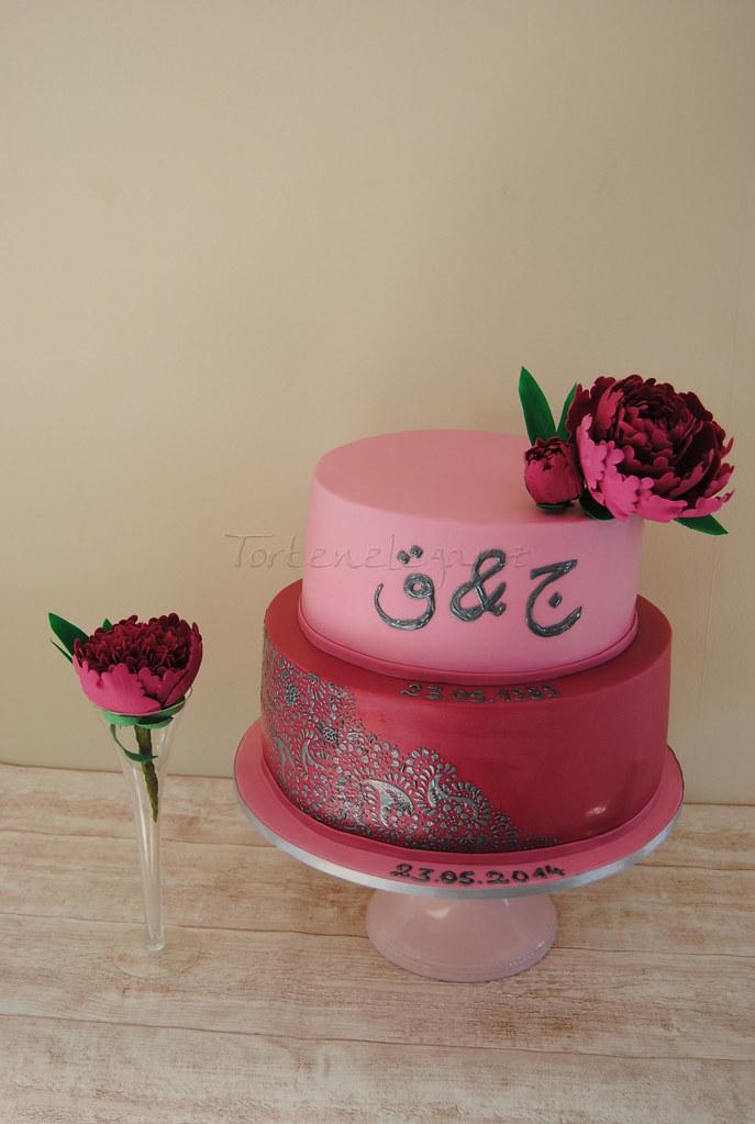 Arabic wedding anniversary Cake | Arabische Hochzeitstag Tor… | Flickr