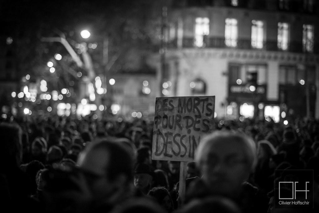 Charlie Hebdo - Rassemblement place de la République