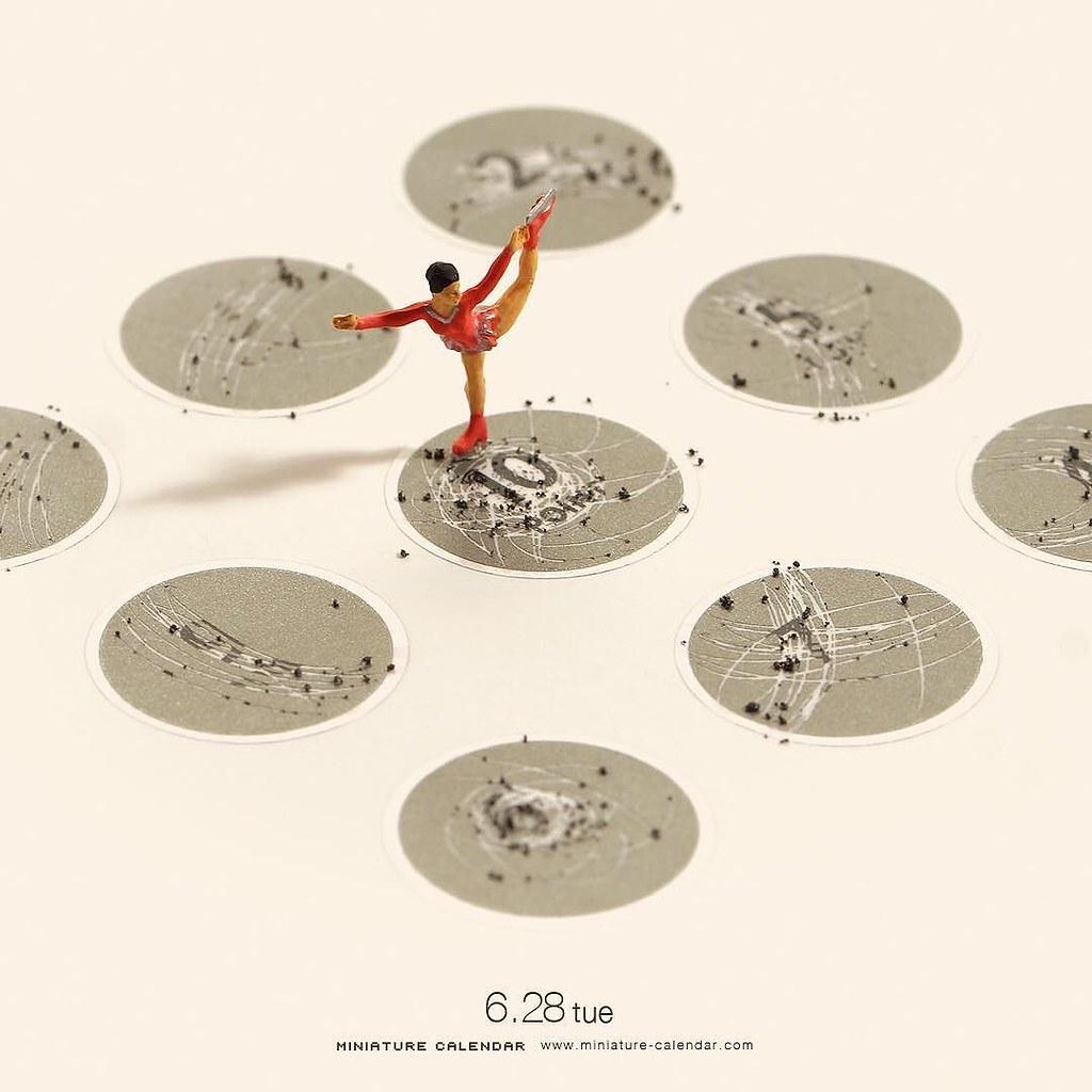 "6.28 tue ""Figure skating"" . 勝負は時の運 . #スクラッチ #フィギュア ..."