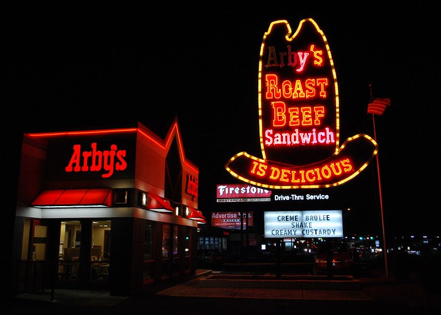 Vintage Arby's neon sign, Waterbury, CT