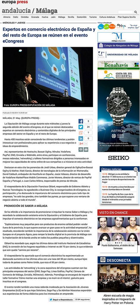 2014-05-21-Europa-Press-Expertos-en-comercio-electrónico-de-España-del-resto-de-Europa-se-reúnen-en-el-evento-eCongress-David-Martinez-Calduch