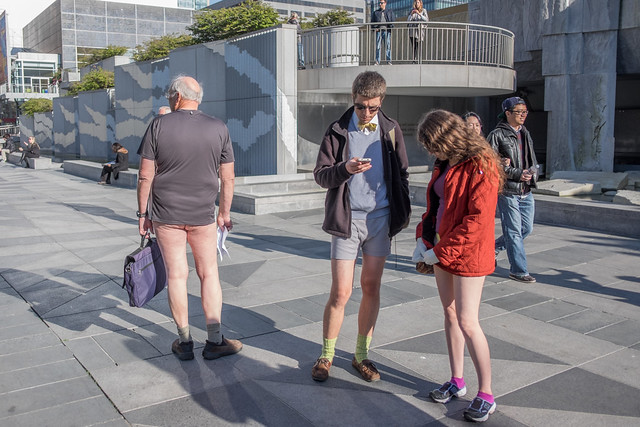 No Pants Subway Ride 2015: the hominy was harbourless