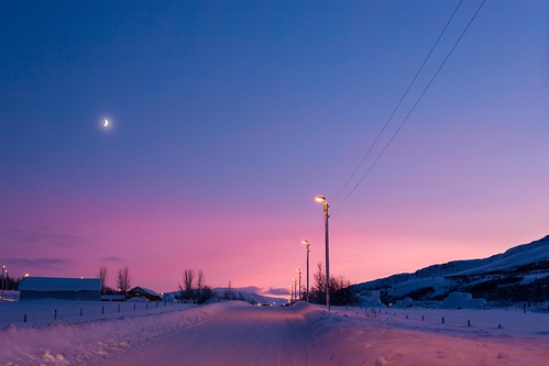 winter sunset sky moon snow ice iceland ngc ísland eyjafjordur nationalgeographic akureyri einarschioth