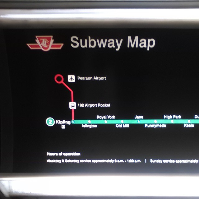 Toronto Bus And Subway Map.The 192 Airport Rocket On The Ttc Subway Map Toronto Ttc Flickr