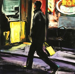 man walking pell street: lisbeth firmin