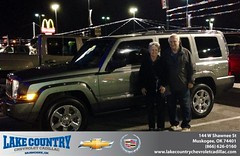 #HappyAnniversary to Leo Keenan on your 2007 #Jeep #Commander from Kimberly Folkner at Lake Country Chevrolet Cadillac!