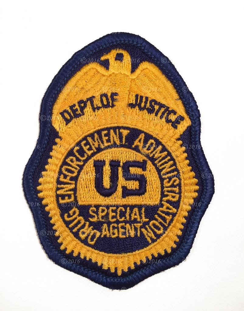 DEA DRUG ENFORCEMENT ADMINISTRATION POLICE PATCH ORANGE