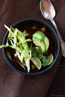 Vegetarian Red Pozole via LittleFerraroKitchen.com | by FerraroKitchen1