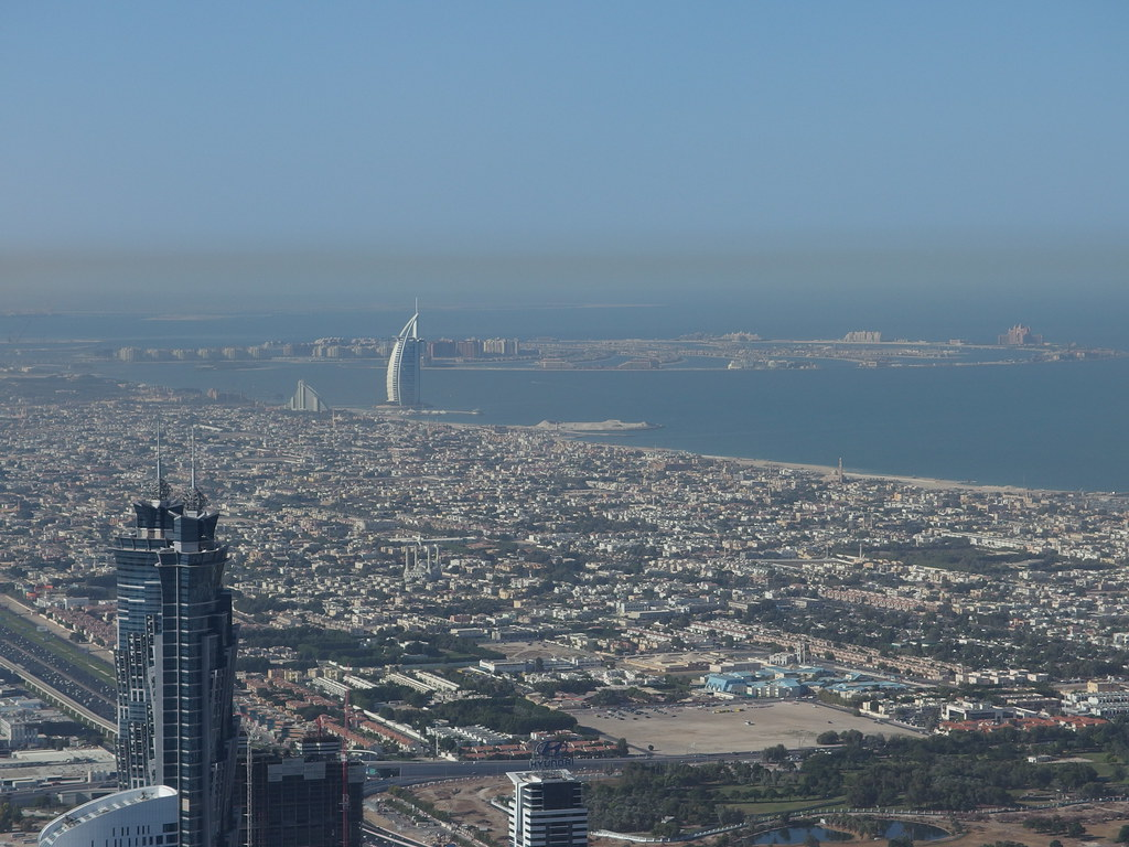 Burj al Arab & Palm Jumeirah @ View from the 124th floor