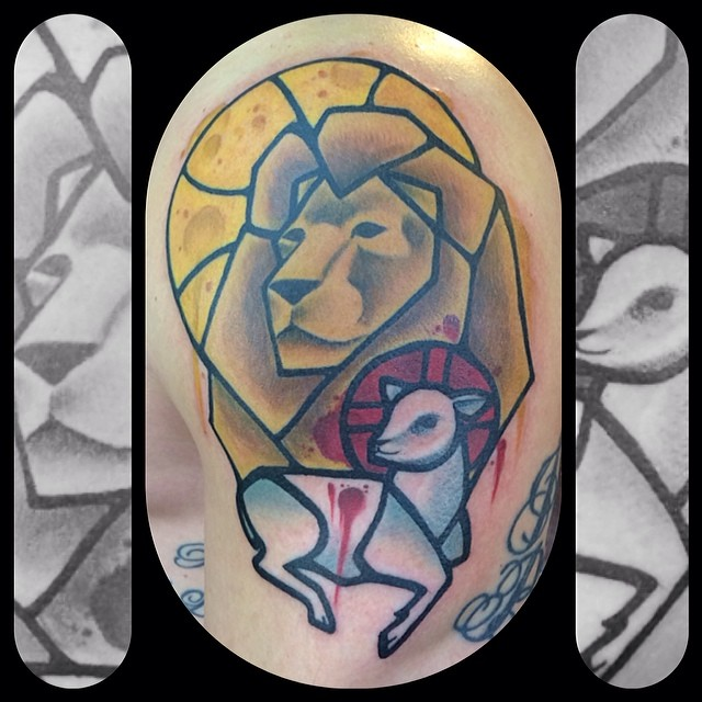 So Happy With This Stained Glass Tattoo Christiantatto